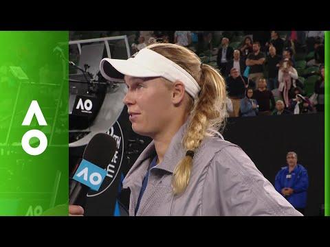 Caroline Wozniacki on court interview (QF)   Australian Open 2018