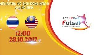 Full | Thái Lan vs Malaysia | Vòng bảng giải Futsal vô địch Đông Nam Á cúp HDBank 2017