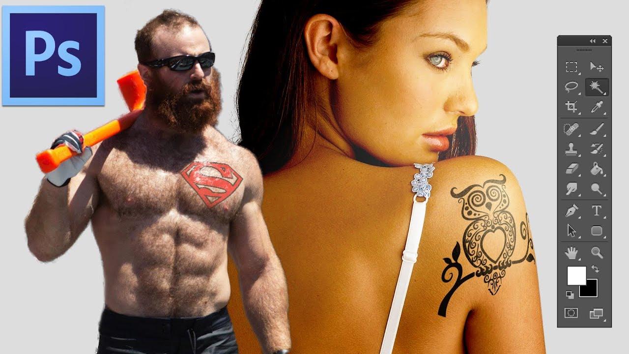 Adobe Photoshop Fake Tattoo Tutorial