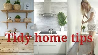 5 TIPS for a TIDY HOME THAT WORKS MINIMALIST CLEANING HABITS for a tidy home