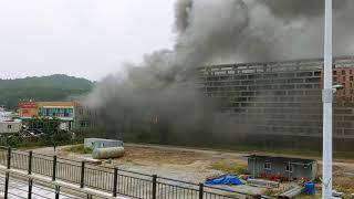 대전 오토월드 중고차 시장 상가동 화재