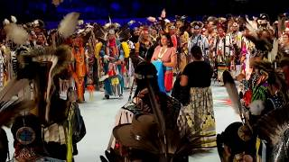 GATHERING OF NATIONS POW WOW 2019   Day 2  :  Introduction Pow Participants   Ruben Little Head