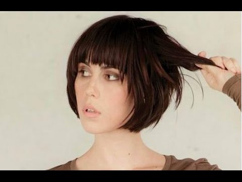 Short Bob Hairstyle With Fringe