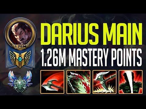DARIUS MONTAGE - KOREAN DIAMOND DARIUS 1.26M MASTERY POINTS - DARIUS MAIN
