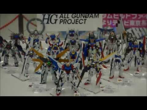 Massive display collection of Gundam Gunpla model Kits in Tokyo