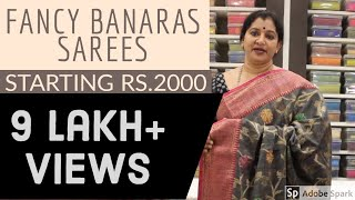 2000/-starting. ||FANCY BANARAS SAREES||EPI-7||GAYATHRI REDDY DESIGNER STUDIO #affordable #sarees