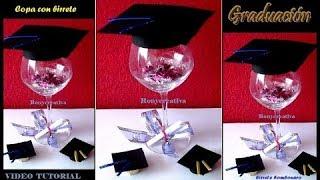 DIY Decorated grad cup - Graduation souvenir / Copa decorada para Graduación