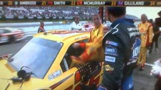 Jimmie Johnson and Kurt Busch Post Race Fight after Nascar race at Pocono