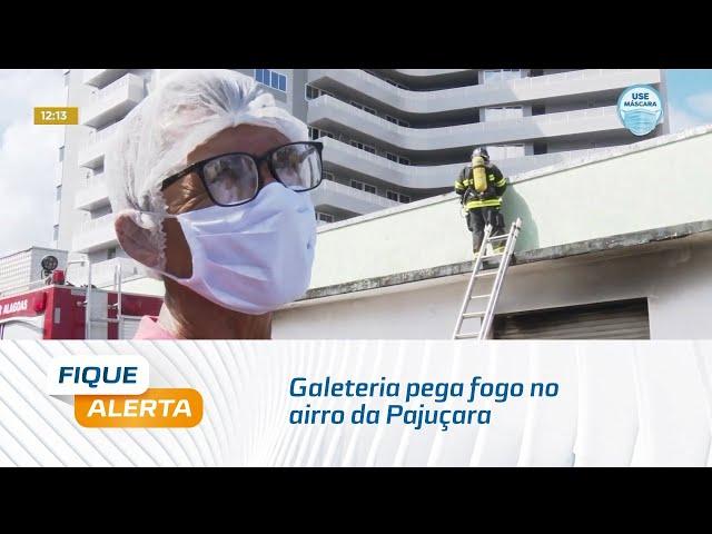 Galeteria pega fogo no bairro da Pajuçara