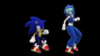 MMD: Hatsune Miku (初音ミク) & Sonic The Hedgehog ~ Skrillex vs Sonic The Hedgehog ~