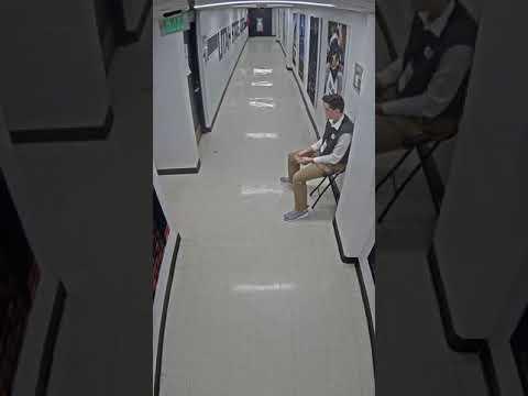 USU vs Nevada (3/2/2019) Security Tape. Back Hallway facing USU Locker Room