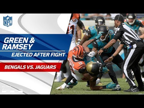 A.J. Green & Jalen Ramsey Ejected After Fight in the First Half   Bengals vs. Jaguars   NFL Wk 9