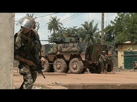 French Soldiers In Heavy Combat Operations in The Central African Republic