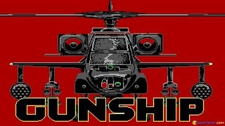 Gunship gameplay (PC Game, 1986)