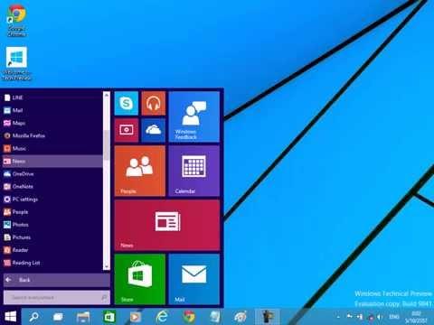 รีวิว windows 10 ไทย Windows Technical Preview