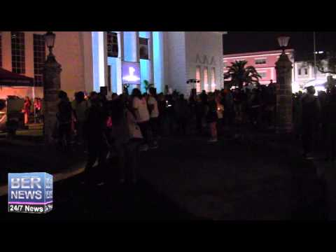 Start Of Earth Hour Walk Of Flame, Mar 29 2014