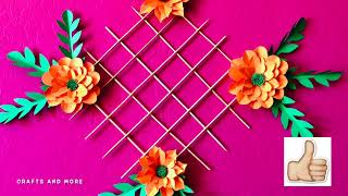 Paper Flowers Decoration Ideas//wall Decor Diy