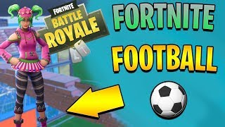 PLAYING FOOTBALL IN FORTNITE! - Fortnite Battle Royale (w/ minimonkeyman17)