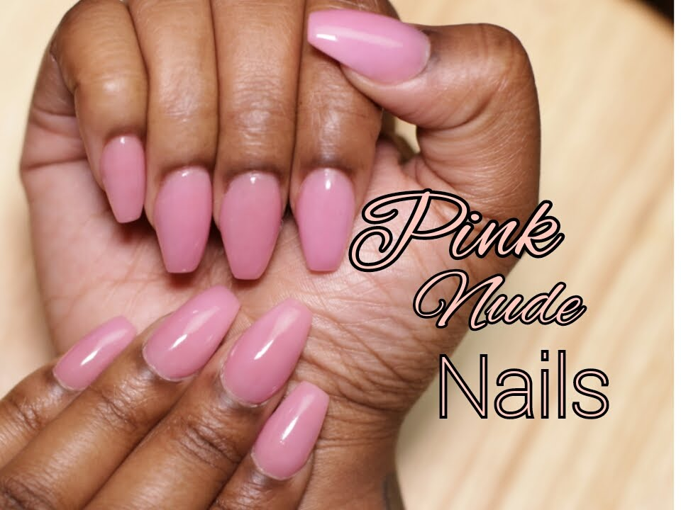 Short Pink Nude Acrylic Nails