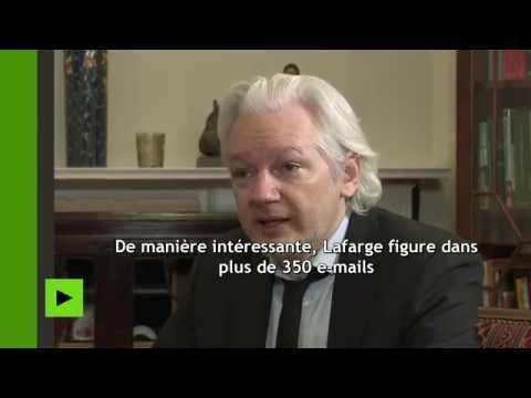 Julian Assange : Lafarge a financé la fondation Clinton en 2015 et 2016