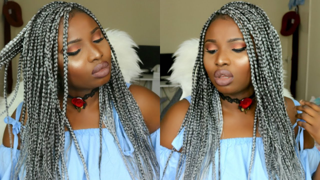 Grey Box Braids And Maintenance Simi Ola Youtube