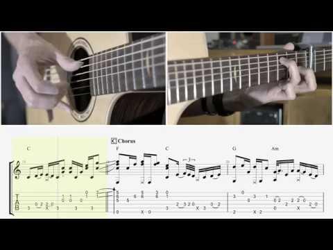10.000 Reasons - Matt Redman - Tab Playthrough / Fingerstyle Guitar Tutorial