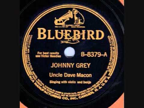 Uncle Dave Macon Johnny Grey 78 rpm