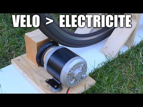 Produire le maximum d'électricité avec un vélo