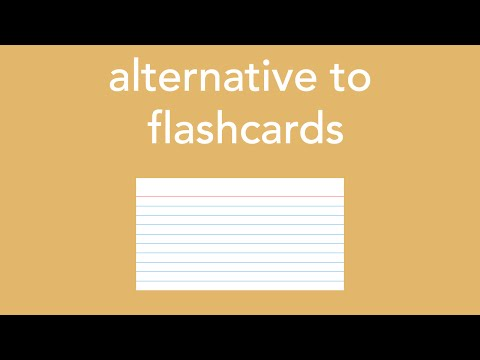 alternative to flashcards