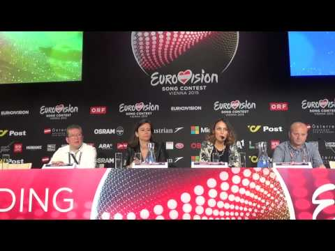 ESCKAZ in Vienna: Press conference from Elhaida Dani (Albania)