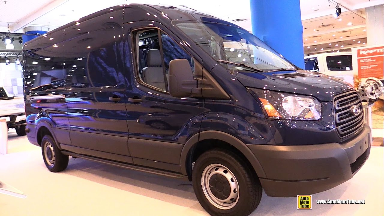 Ford Cargo Van Conversion >> 2017 Ford Transit 150 Cargo Van - Exterior and Interior Walkaround - 2017 NY Auto Show - YouTube