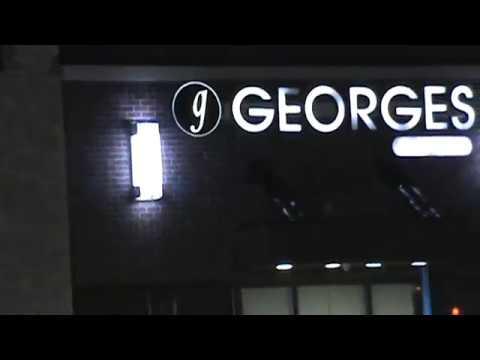 Parking Lot of G Georges Restaurant, Southfield, Michigan, Dec. 21, 2018
