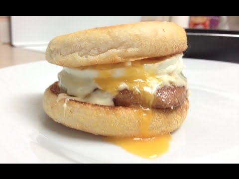 McDonalds SAUSAGE AND EGG McMUFFIN WITH CHEESE COPYCAT RECIPE ...