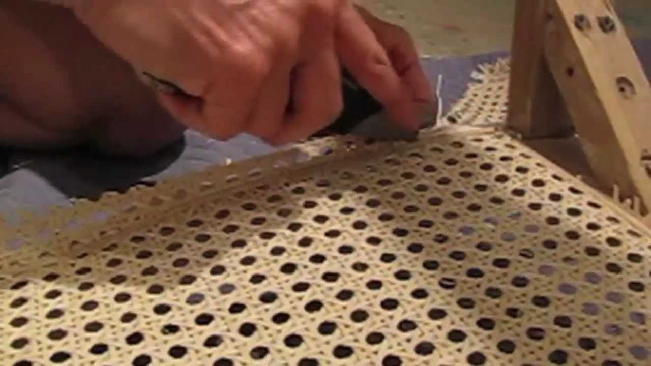 & How To Recane A Chair - YouTube