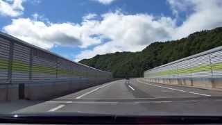山形自動車道 上り 山形蔵王IC - 笹谷トンネル - 笹谷IC [4k 車載動画 2014/07] Z41