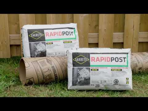 SAKRETE RAPID POST - How-To Video - YouTube