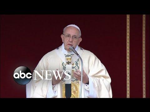 Pope celebrating Easter Mass