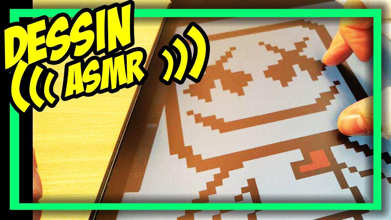 Asmr Fr Comment Faire Pour Dessiner Un Pixel Art De Marshmello étapes Par étapesfortnite