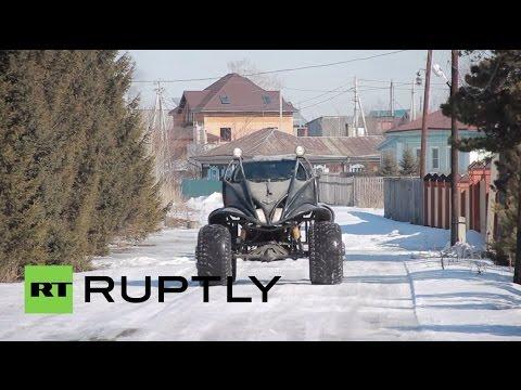 Russia: Bizarre alien-like vehicle roams around Biysk