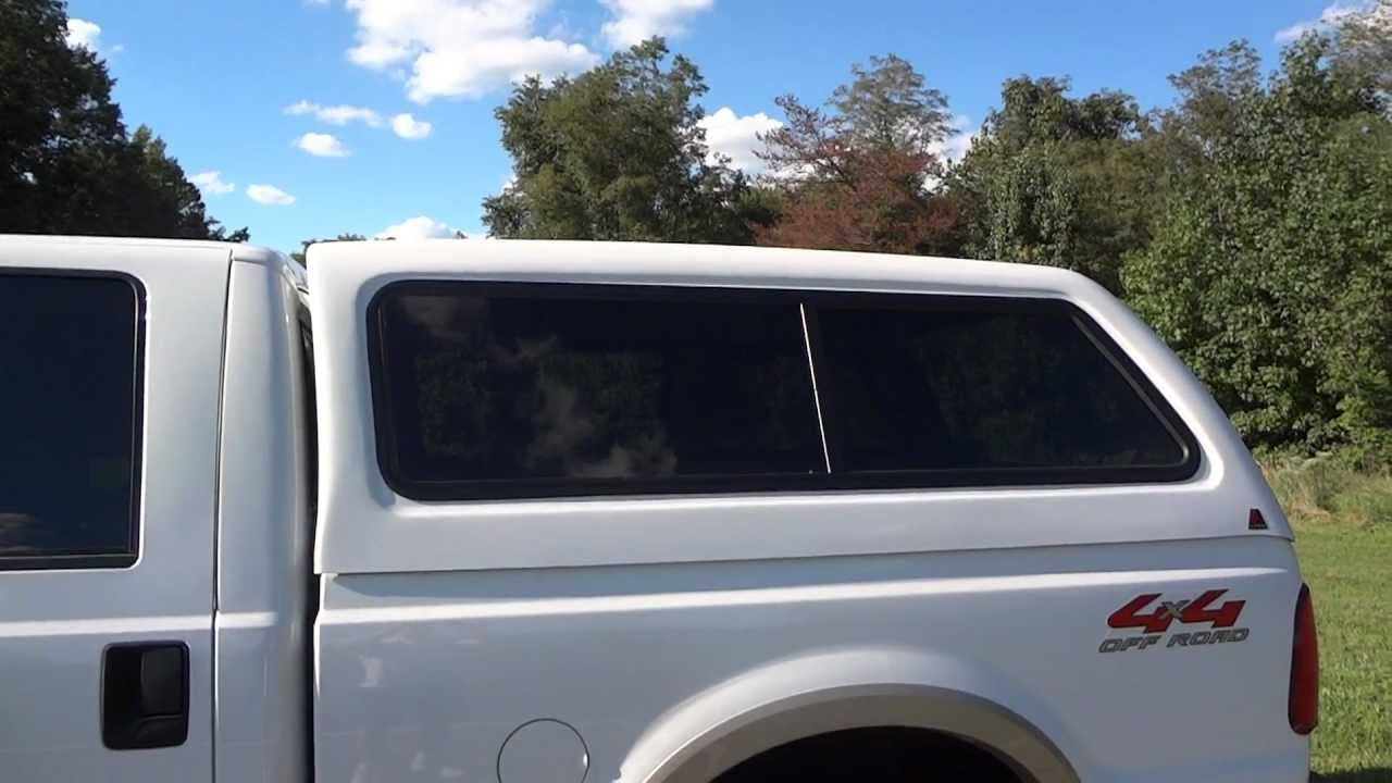 Leer 100XR truck cap on a Ford F-250 Super Duty - YouTube