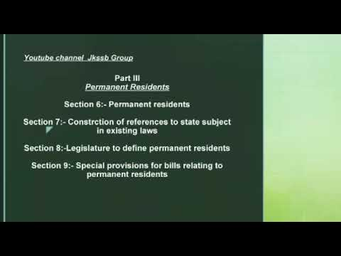 Constitution of J&k Fundamental Rights & Directive Principles (Part 3 )