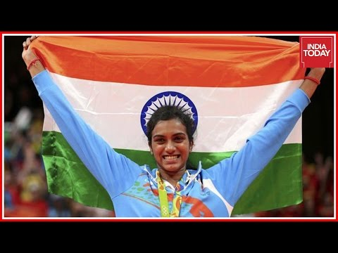 PV Sindhu Returns Home To Grand Welcome In Hyderabad