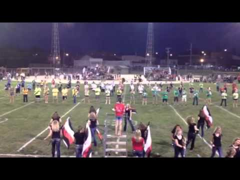 Westby high school band halftime 2