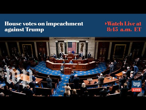 House impeaches Trump for second time - 1/13 (FULL LIVE STREAM) The House of Representatives is poised to impeach President Trump for a second time when it meets on Jan. 13 to consider an article charging him with ..., From YouTubeVideos