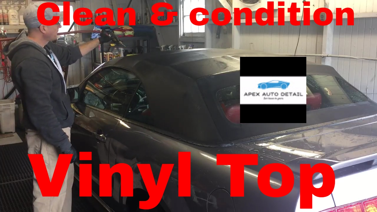 Tips On How To Clean And Condition A Convertible Top Vinyl
