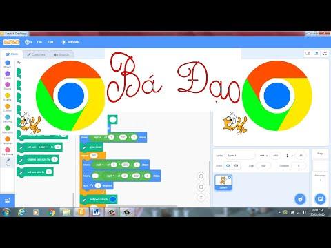 Vẽ Logo Google Chrome Dùng Scratch-Draw the Google Chrome logo Use Scratch|VĐD
