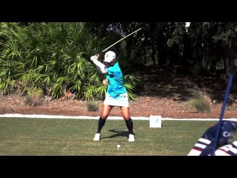 AI MIYAZATO 120fps SLOW MOTION FACE ON DRIVER GOLF SWING 2015 CME GROUP TOUR CHAMPIONSHIP 1080p HD
