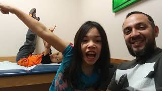 My babies being silly at the doctors office