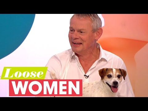 Martin Clunes And His Dog Jim Woo The Loose Women!  Loose Women
