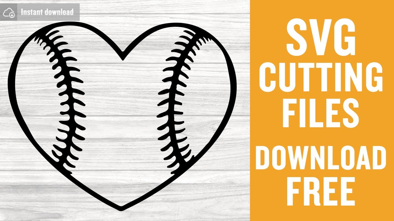 Baseball Heart Svg Free Cutting Files For Cricut Silhouette Instant Download Youtube